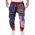 2016 New Arrival Men's  pants USA letters design Loose Casual  Male Long pants Fashion man sweat trousers M XXL