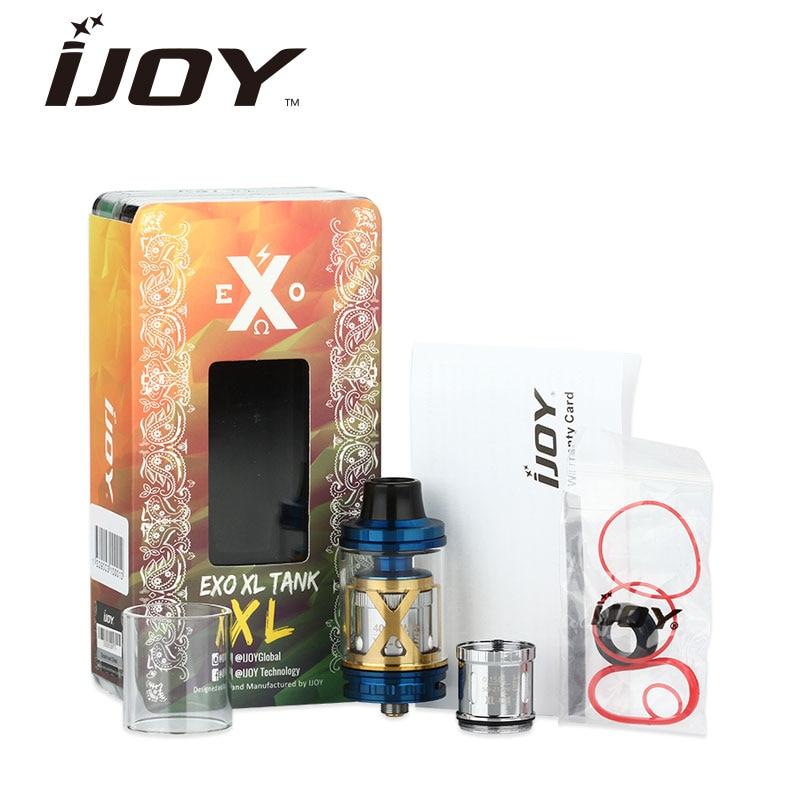 Original IJOY EXO XL Sub Ohm Tank 5 ml Topfill EXO XL Atomizador Cigarrillo electrónico Atomizador Tanque grande Vapor enorme Subohm Bobina