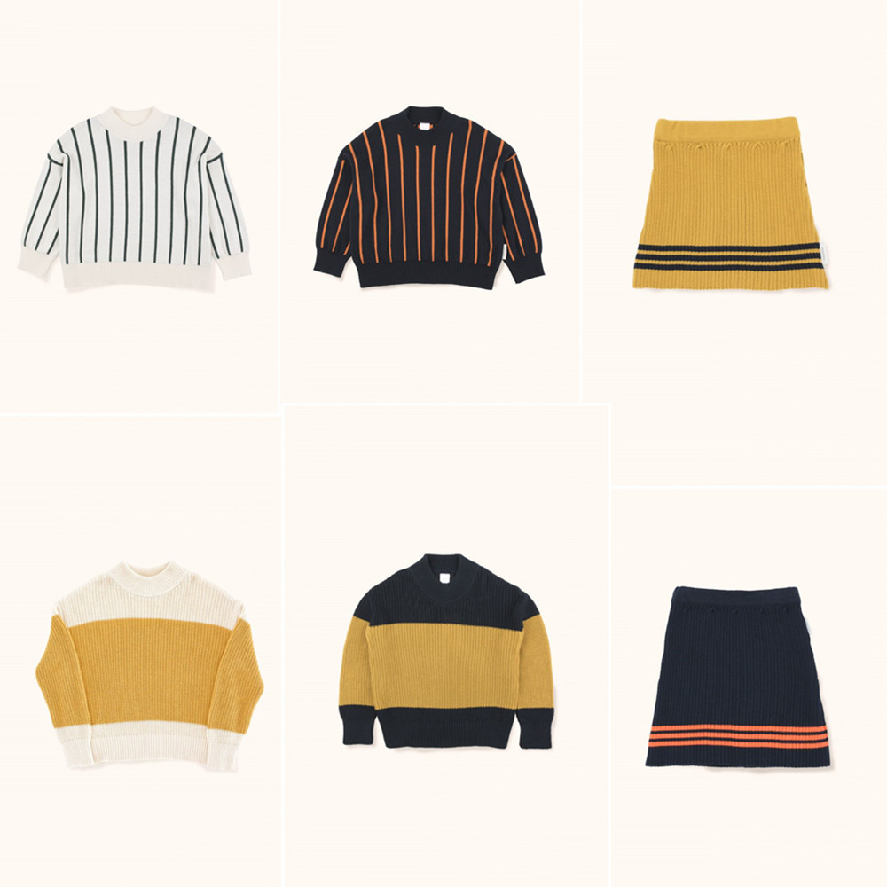 Kids Sweaters Tiny Cottons 2018 Autumn Winter Boys Girls Long Sleeve Stripe Print Knitting Cardigan Baby Children Tops Clothes children autumn and winter warm clothes boys and girls thick cashmere sweaters