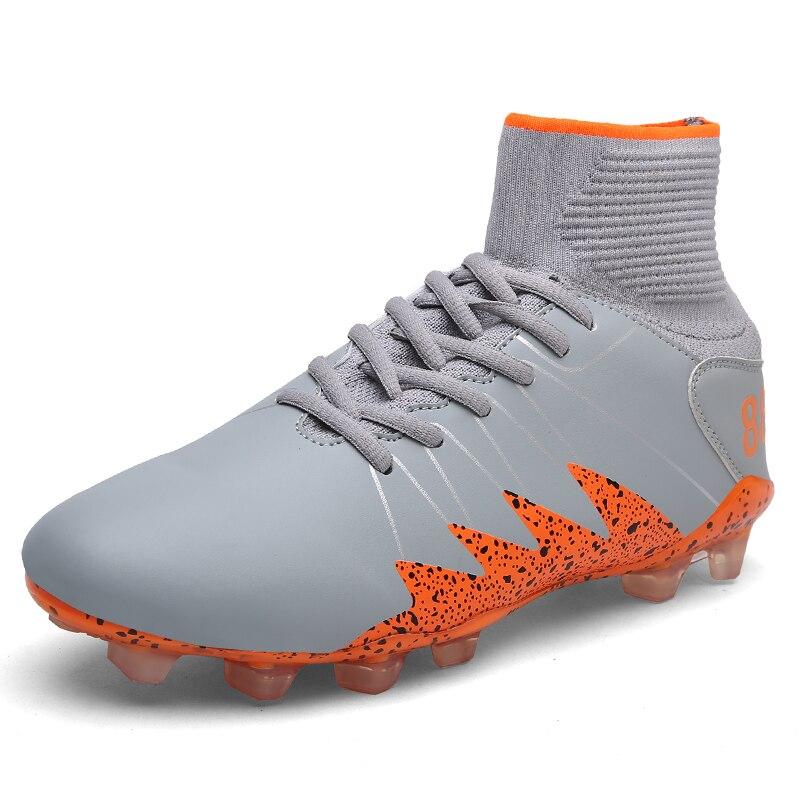 LEOCI Alta Tornozelo Sapatos de Futebol Longo Spikes Voar Homens Sapatos De  Futebol Meninos New Superfly Chuteiras Botas de Futebol Ao Ar Livre Tênis  ... 44a1808f5189a