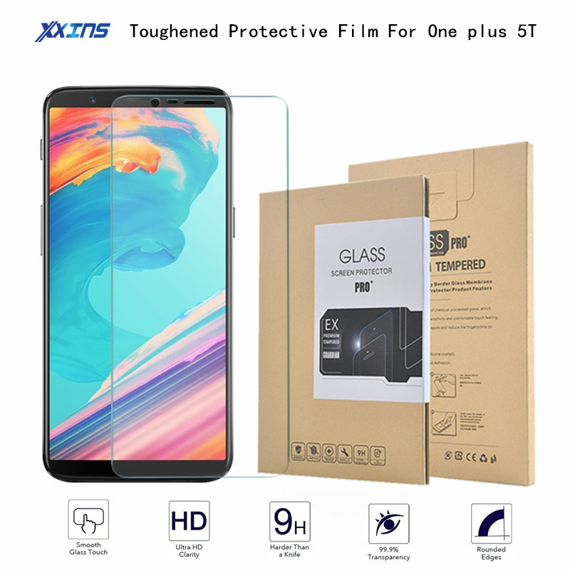 Tempered Glass For One Plus 5T Screen Protector smartphone case cover display smartphone oneplus5T with retail packing