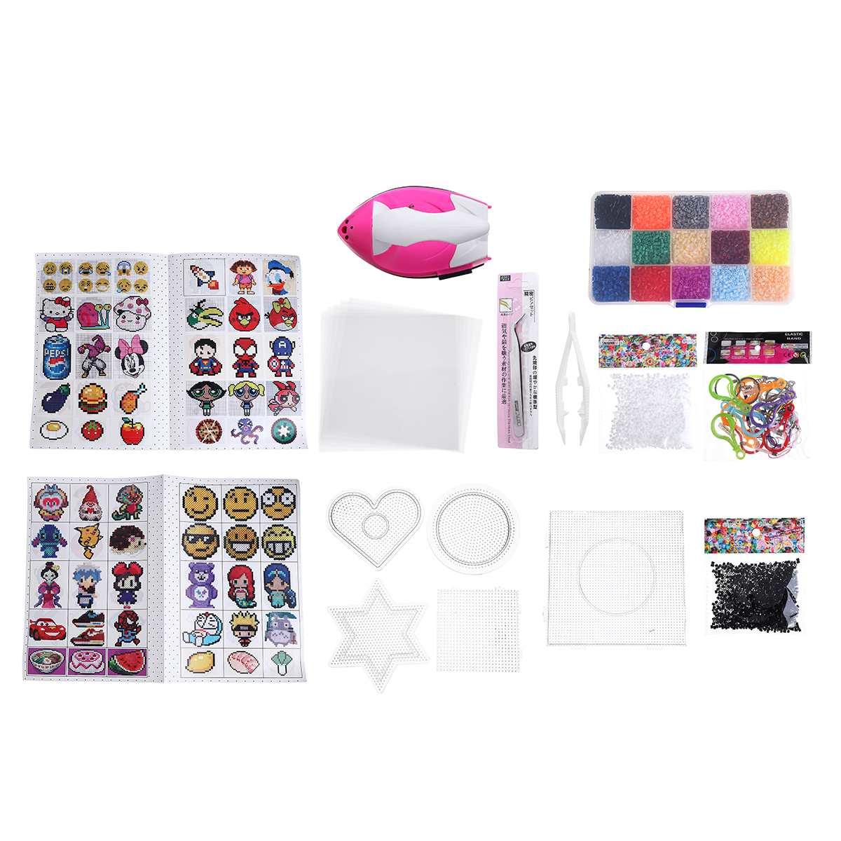 8000pcs 2.6mm EVA Hama Beads Set Toy Kids Fun Craft DIY Handmaking Fuse Bead Multicolor Intelligence Educational Toys