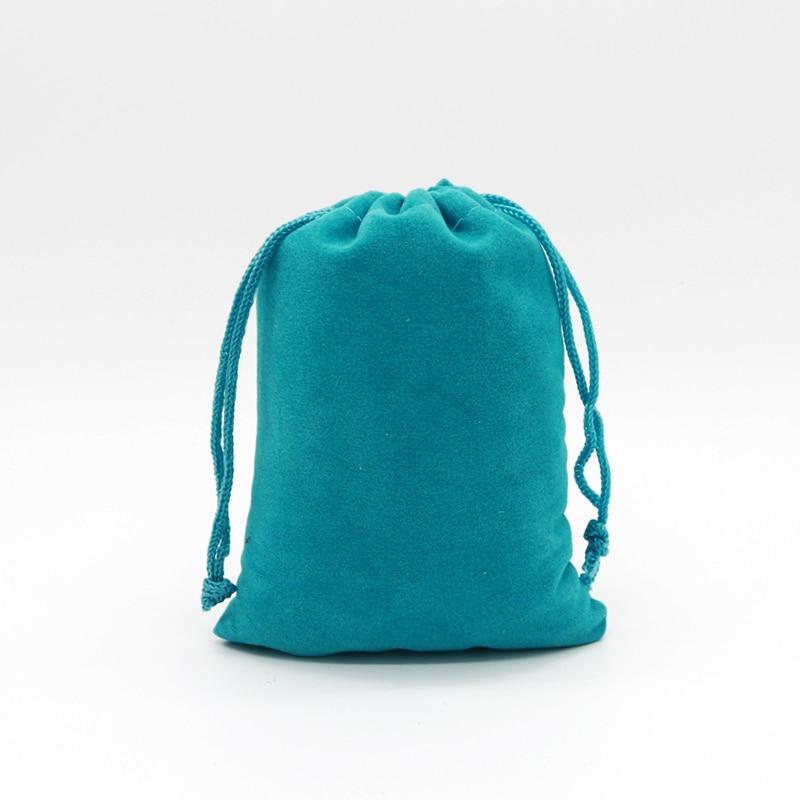 5pcs/lot 9x12 13x18 15x20cm Velvet Bag Drawstring Gift Bag Pouches Can Custom Logo Bracelet Charms Watch Jewelry Packaging Bags