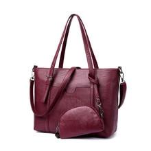 YGDB Women Split Leather Shoulder Composite Bag Handbags Designer Ladies Messenger Cross Body Tote Bags 6840