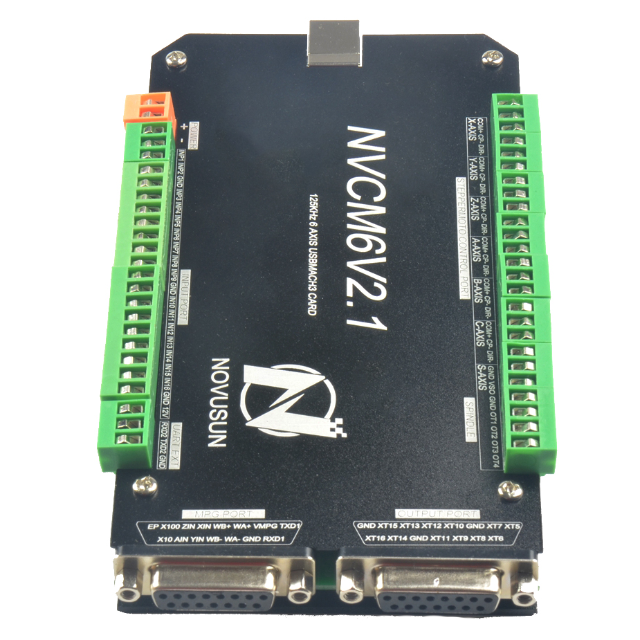 6 Axis NVCM Mach3 USB Port 125KHz Stepper Motor Control Card CNC Controller