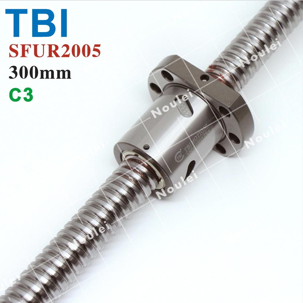 CNC Ball Screw 1605, TBI C5 Precision Anti Backlash Ballscrew SFU1605 300mm with Ball Nut SFU 1605 tbi sfu 1605 ball screw price cnc ballscrew 1605 1100mm ball screw nut sfu1605 l1100mm
