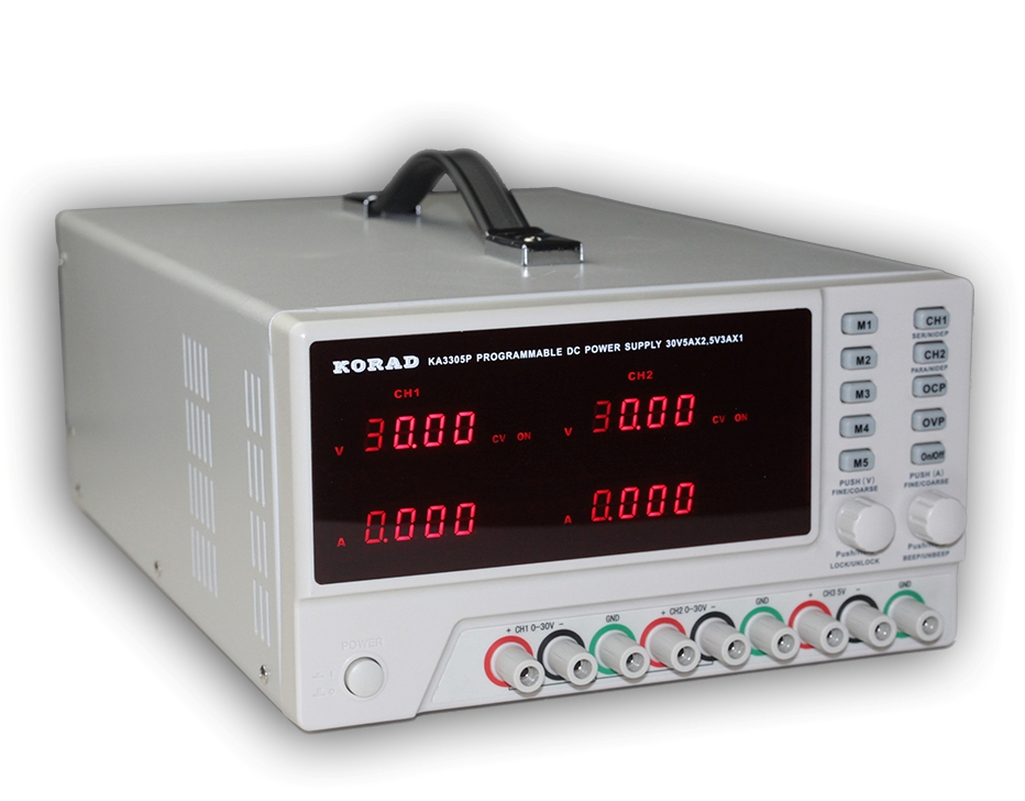 KORAD KA3305P - Programmable Precision Variable Adjustable 30V, 5A DC Triple Linear Power Supply Digital Regulated Lab Grade it6720 programmable dc power supply 60v 5a lab grade