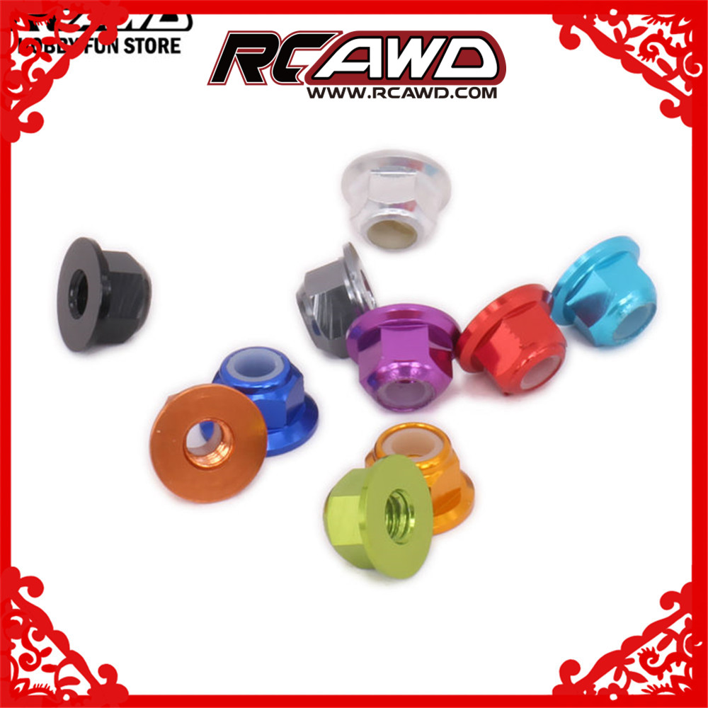 RCAWD M4 4mm <font><b>Wheel</b></font> Hex Lock Nut For <font><b>RC</b></font> Car <font><b>1/12</b></font> Wltoys L959 L969 L979 L202 L212 L222 K959 Monster Truck 1/16 Traxxas Slash image
