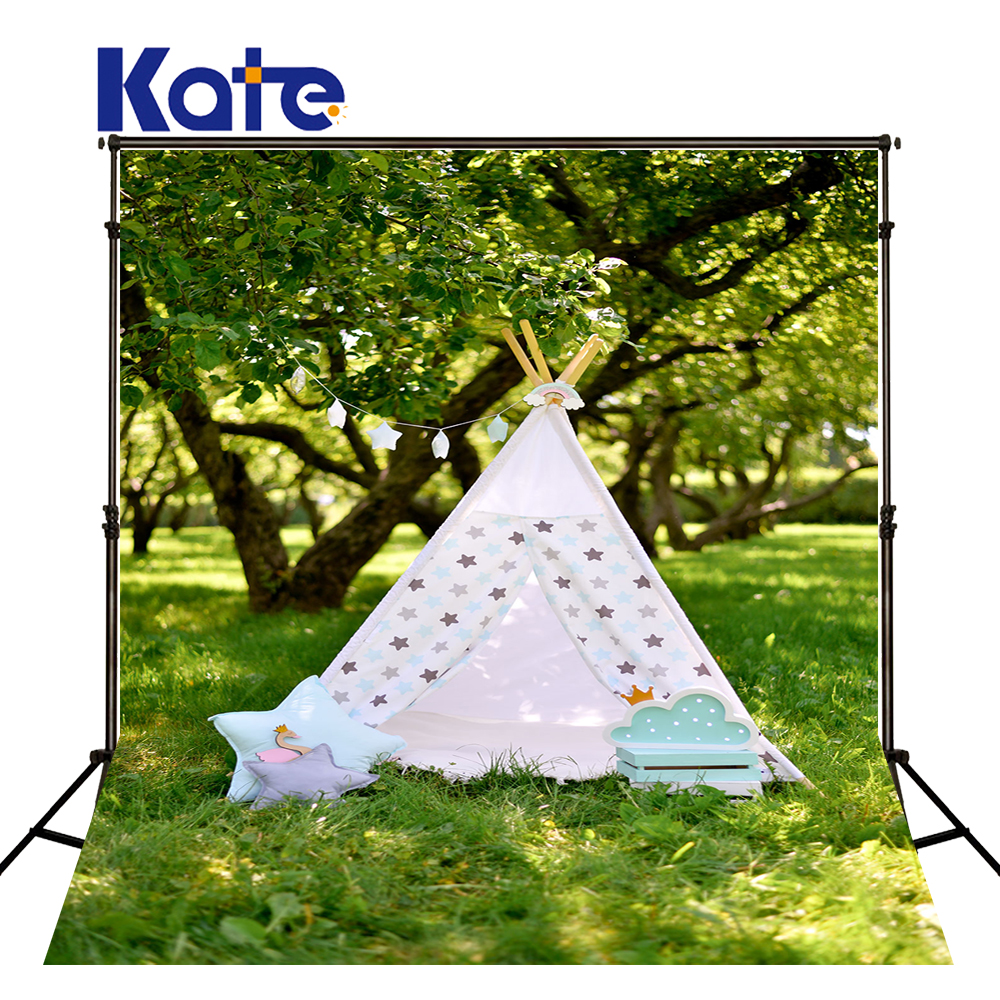 KATE 5x7ft Photo Backdrop Naturism Children Photos Spring Cartoon Tents Backdrops Scenery Forest Newborn Photo for Studio kate photo background scenery