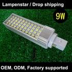 10pcs / lot G24 LED pl 9W Saving Light Horizontal pl-c Plug Lamp SMD5050 g24d Light Bulb AC 85V-265V 110V 220V 230V