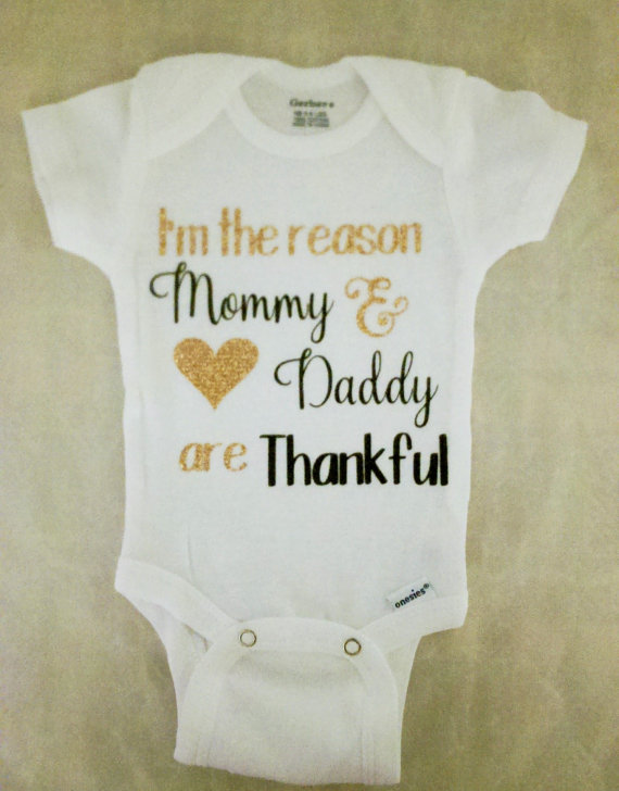 personalized Thanksgiving 1st birthday baby shower bodysuit onepiece romper  Outfit New Year party favors Photo Prop -in Party Favors from Home   Garden  on ... 70d542945