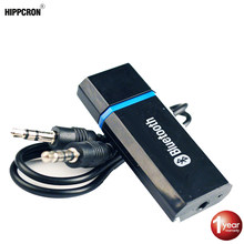 Hippcron MINI Kit de coche Bluetooth adaptador Aux 2,1 + EDR del receptor de Audio Aux de 3,5mm USB Bluetooth Altavoz del coche MP3(China)