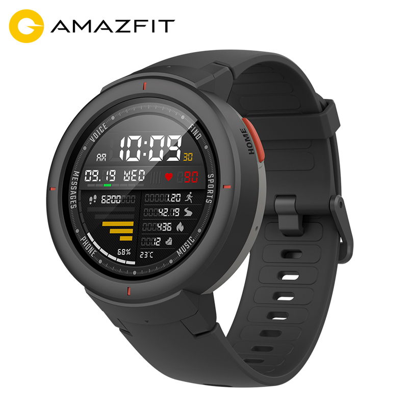 Global Version Amazfit Verge Smartwatch 1 3 inch AMOLED Screen Dial Answer Calls Upgraded HR Sensor