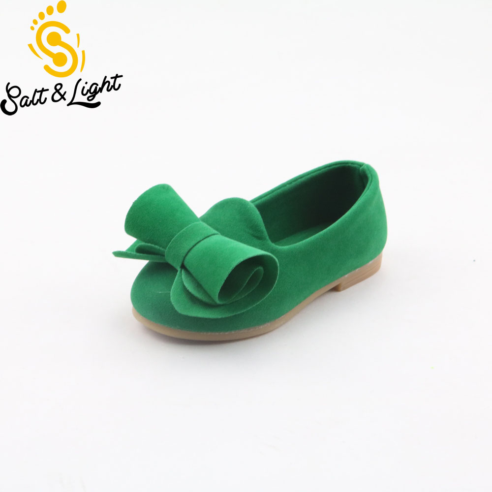 Autumn New Children Velvet Comfortable Casual Shoes Princess Girls Lovely Style Bow Single Shoes Kids Soft Bottom Single Shoes