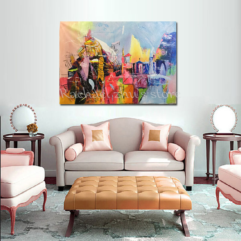 No Framed Wall Art Picture For Living Room Modern Abstract Oil ...