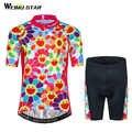Weimostar 2018 Kinder Radtrikot Set Kinder Fahrrad Radfahren Kleidung Maillot Ciclismo Kurzarm Gilr MTB Bike-trikot Anzug