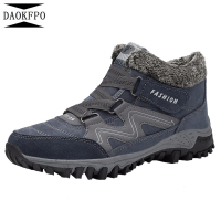 Man Vulcanized shoes non slip waterproof winter ankle warm shoes man platform winter shoes with thick fur botas mujer F 98