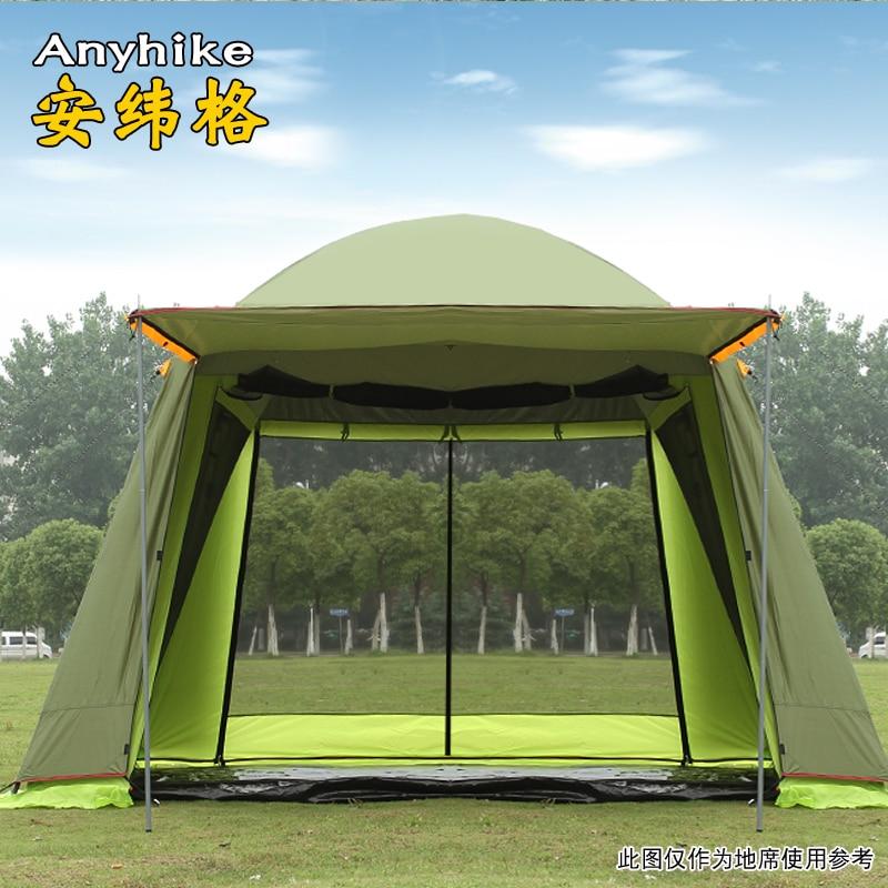 Haute qualité double couche 5-8person fête de famille gardon plage camping tente gazebo abri solaire pergola moustiquaire 2 couleurs