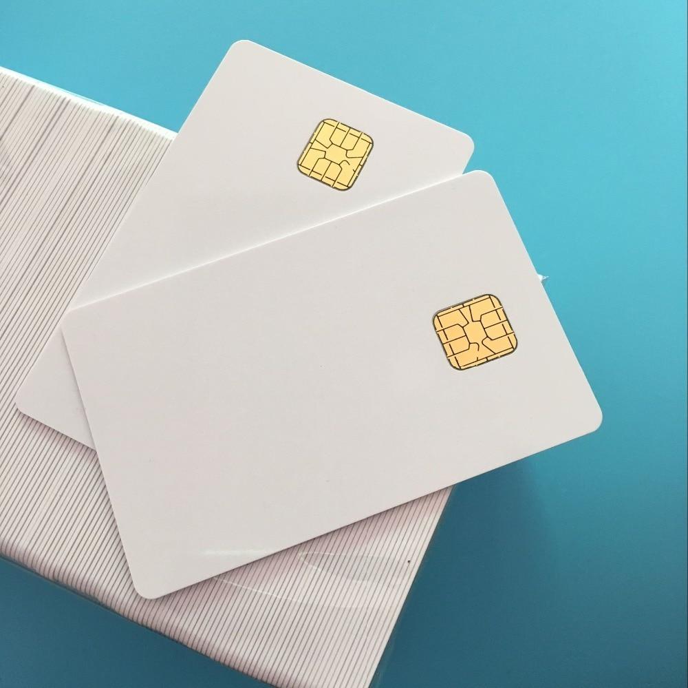 200PCS SLE 4428 Contact IC Big Chip - White PVC Smart Card