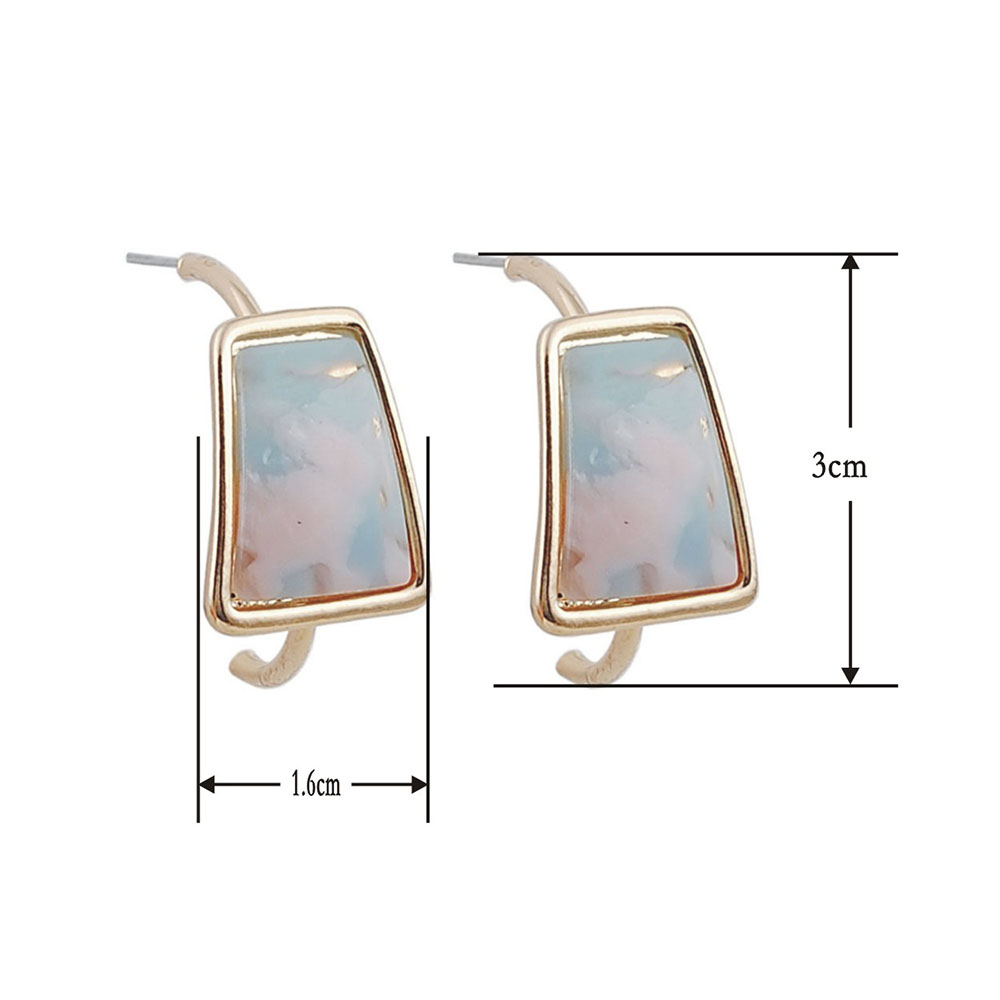Geometric Fashion Women Acrylic Earrings Statement Vintage Exquisite Hoop Earrings Evening Party Jewelry Accessories in Hoop Earrings from Jewelry Accessories