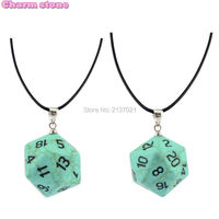 Women New Fashion Pendant Football Shape Synthetic Turquoise With Leather Rope Choker Necklace Chain Fashion