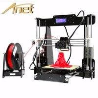 Anet A6 A8 Full Acrylic Frame 3D Color Printing Printer DIY Kit Filament SD Card LCD Screen Display Reprap Prusa i3 +16GB Card