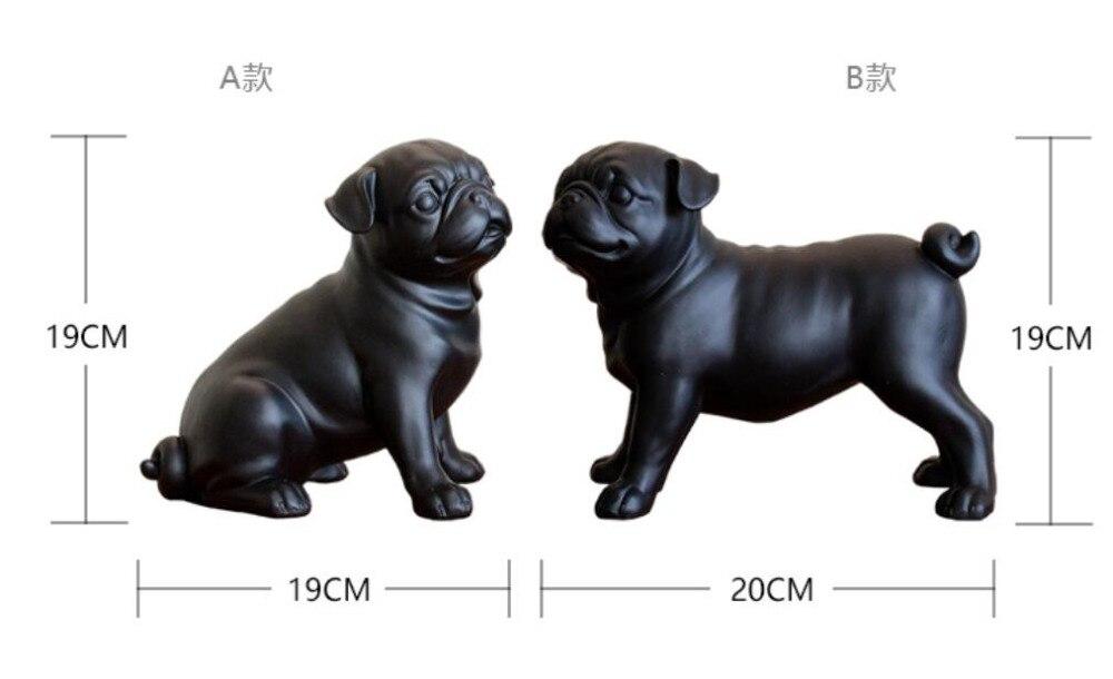 Архитектор Смола матовый черный мопс орнамент обустройства дома исследование стикер 2 шт. комплект Одежда с принтом в виде собак алмаз укра