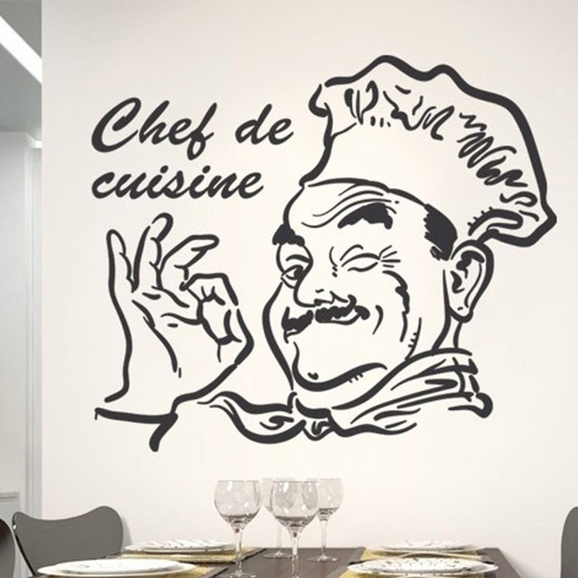 New Chef De Cuisine Removable Decor Sticker Wall Sticker Decal For