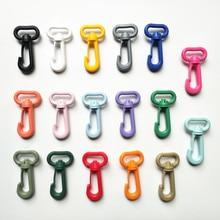 10 шт цветная пластиковая пряжка шарнирная застежка-Омар зажимы для ключей крючок для ключей зажим для собаки пряжки DIY аксессуары для сумок