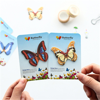 DL Creative stationery, butterfly shape convenience sticker pape paper cartoon cartoon N Stationery for office supplies image