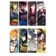 8pcs Touken Ranbu Online Anime Bookmarks Waterproof Transparent PVC Plastic Bookmark Beautiful Book Marks Gift