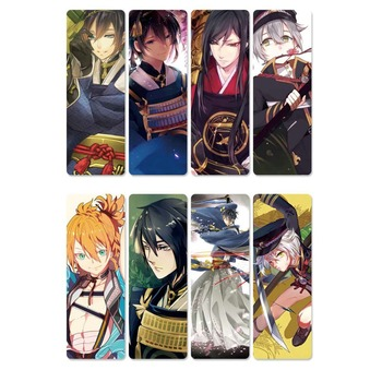 8pcs Touken Ranbu Online Anime Bookmarks Waterproof Transparent PVC Plastic Bookmark Beautiful Book Marks Gift