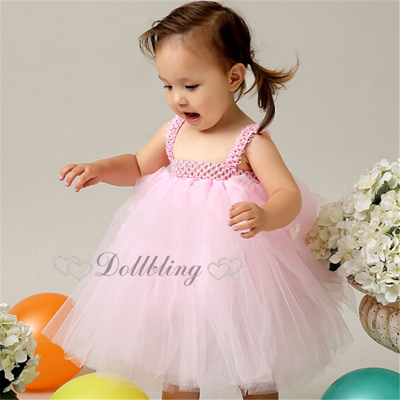 a329e024a763c Ellie Bridal Blush pink Embellished Tulle Morden Ball Gown Junior Bridesmaid  Christening flower girl dress d1019-in Dresses from Mother & Kids on ...
