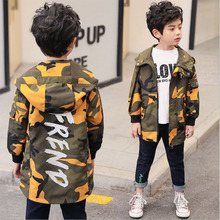 Childrens Wear Boys Long Windbreaker Children Camouflage Coat Spring And Autumn 2019 New Clothing Kid Outerwear