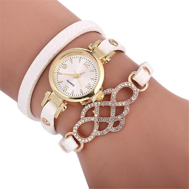 2018 פשוט עור מזכרות גבירותיי שעוני יד אופנה מקרית יהלומי נשים של שעון יפה טמפרמנט אופנתי שעון # D
