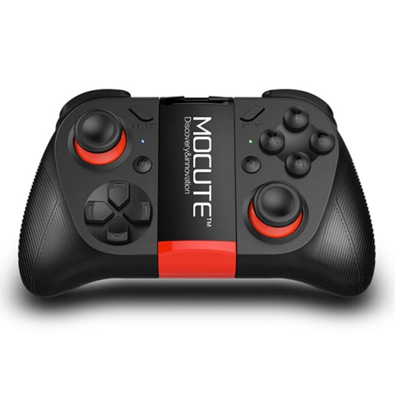Joystick controlador Bluetooth MOCUTE 050 VR juego Pad Android Selfie Control remoto obturador Gamepad para PC teléfono inteligente + soporte