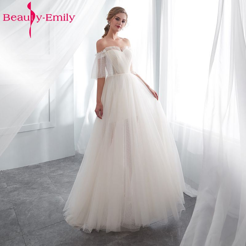 4d417be7bc8 Beauty Emily White Lace Formal Evening Dresses 2018 long Plus Size A Line  Evening Party Dresses Floor Length Prom Dress Elegant-in Evening Dresses  from ...