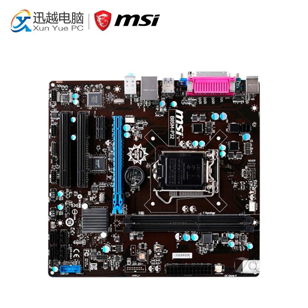 MSI B85M-P32 Desktop Motherboard B85 Socket LGA 1150 i3 i5 i7 DDR3 32G SATA3 USB3.0 Micro-ATX