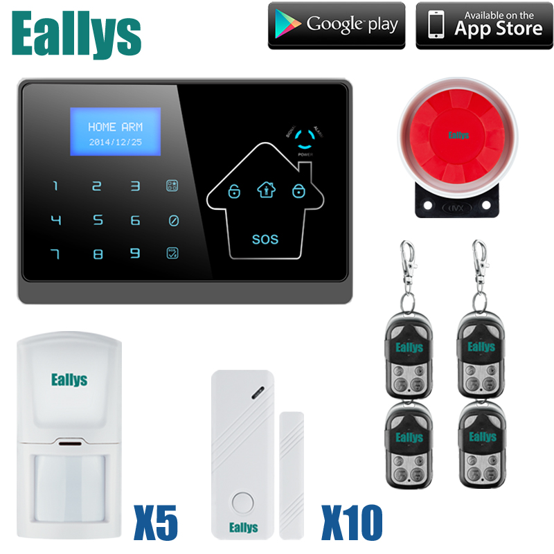 GSM SMS Home Burglar Security Gsm Alarm System Detector Sensor Kit Remote Control english/spanish/french voice support 433mhz dual network gsm pstn sms house burglar security alarm system fire smoke detector door window sensor kit remote control