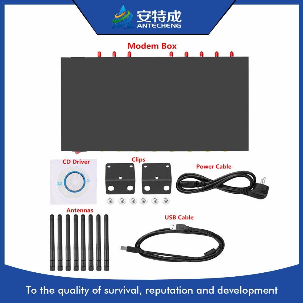 Imei Change Usb Modem 3g Bulk Sms Machine With External Antennas Gsm Programmable Wavecom Fastrack Circuit Atc Hot Sell 1u Size 4g Pool 8 Port Machines