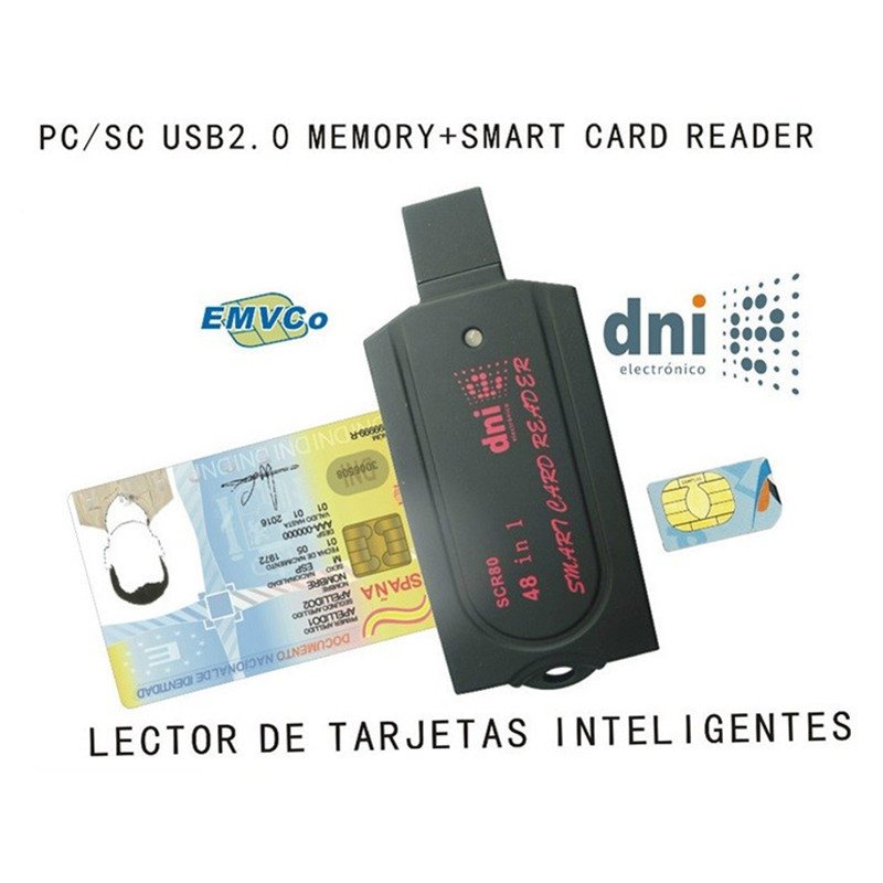 SCR80 48 In 1 SIM Smart Card  Editor Support SD(7 In 1)+ Micro SD +MS(3 In 1) + M2 + SIM + Smart  Card ISO 7816 + SDK Kit