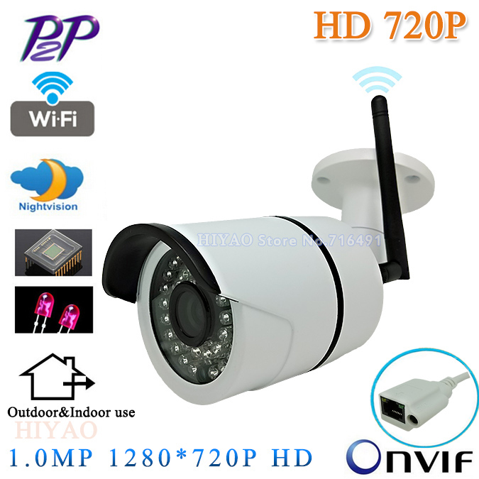 CCTV Camera HD Wireless Outdoor IP Camera WIFI 720P ONVIF Video H.264 IR Night Vision Mini Security Camera Surveillance System 720p full hd h 264 waterproof outdoor ir night vision ip camera wifi security cctv system 8ch wireless nvr surveillance kit