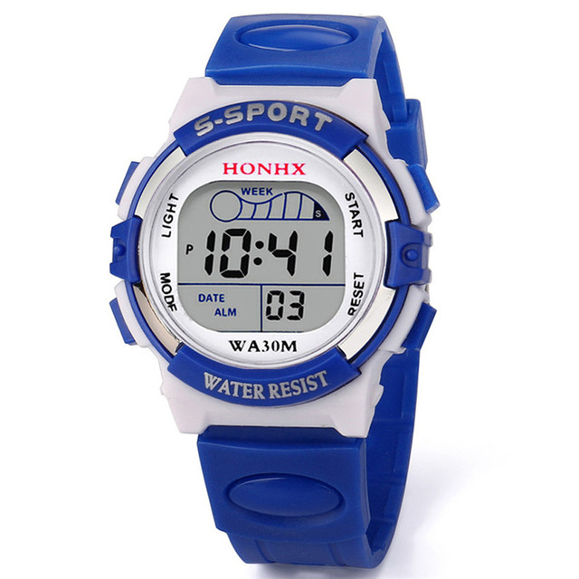 Kids Watches Waterproof Childrens Boys Digital LED Quartz Alarm Date Sports Wris