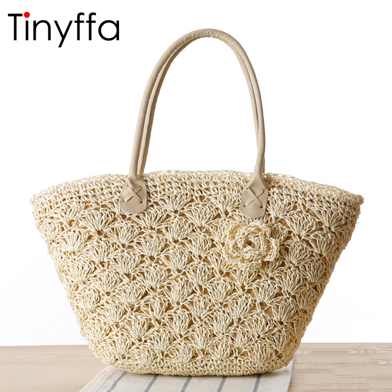Tinyffa summer straw beach bag luxury handbags women bags designer famous brands 2017 shoulder bags ladies hand bags tote Weave развивающие игрушки little tikes наковальня 634901