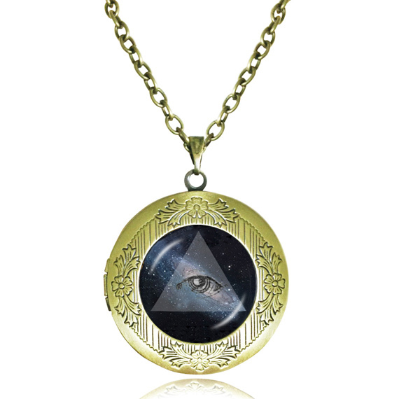 Vintage locket necklace third eye jewelry triangle pendant black vintage locket necklace third eye jewelry triangle pendant black space galaxy choker necklace women men necklace wholesale in pendant necklaces from jewelry mozeypictures Image collections