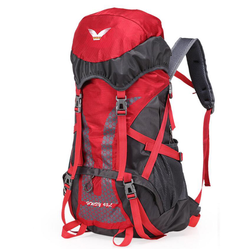 45L Outdoor Sports Backpack Waterproof Rucksack Light Weight Travel Bags Trekking Backpack Men Women Camping Hiking Bag in Climbing Bags from Sports Entertainment