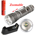 1600LM алюминиевый нью-cree XM-L Q5 из светодиодов факелы Zoomable из светодиодов аксессуары для фонарей факел лампы для 18650 + зарядное устройство