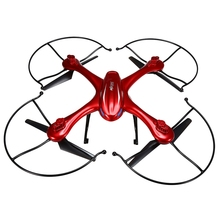 MJX X102H 2.4G 4CH 6-Axle RC Quadcopter RTF Air Press Altitude Hold LED Light Drone One Key Return-Red