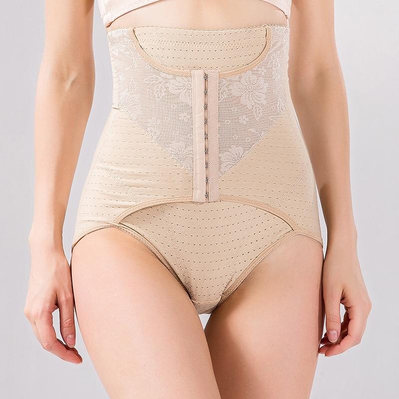 AOBRITON High Waist Trainer Butt Lifter Control Panties Women Slimming Abdomen Hip Shaper Underwear Tummy Postpartum