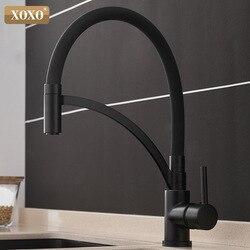Xoxo Keukenkraan Pull Down Koud En Warm Black Chrome Keuken Tap Sink Badrandcombinaties Torneira Cozinha Mixer Water Kranen 1303